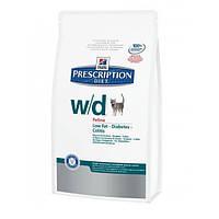 Hills Prescription Diet Feline w/d 5кг -корм для кошек при  ожирении, колитах, сахарном диабете (4328)