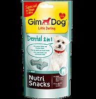 GimDog Nutri Snacks Dental 2in1 40г- снэки с мятой для чистки зубов у собак  (G-509761)