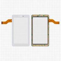 "Сенсорный экран для планшетов China-Tablet PC 7""; Freelander PD10 3G, PX1, 7"", 30 pin, емкостный, белый, (186*105 мм), #0700-0866/362-A/FM710301KA/M78"