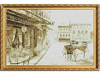 Набор для вышивки картины Летняя Терраса 58х39см