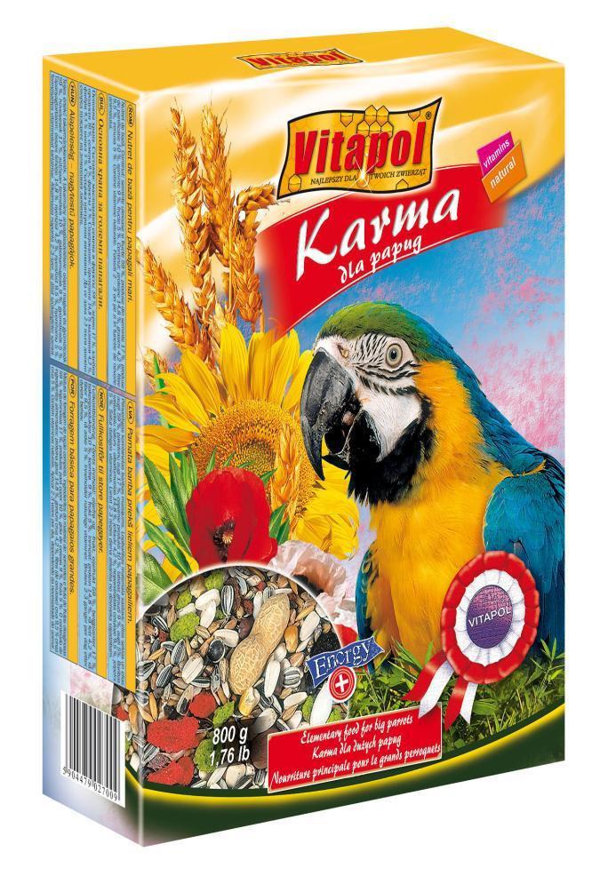 Vitapol Karma Ара Корм для крупных попугаев 900г (2700)