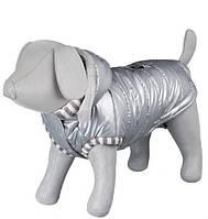"""Trixie TX-67522 XS пальто """"Dog Prince"""" с капюшоном для собак 27см, серый"""