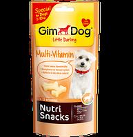 GimDog Nutri Snacks Multi-Vitamin 40г- снэки  мультивитамины для собак мелких пород (G-509754)