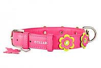 CoLLar Glamour - кожаный ошейник для собак (длина 21-29 см, диаметр - 12 мм) (3500)