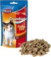 Trixie TX-4262 ласощі для кота Crumbies з солодом 50г