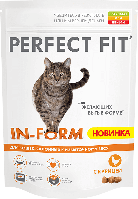 Perfect Fit In-form 15кг-корм для  котов и кошек на основе курицы  со склонностью к избыточному весу.