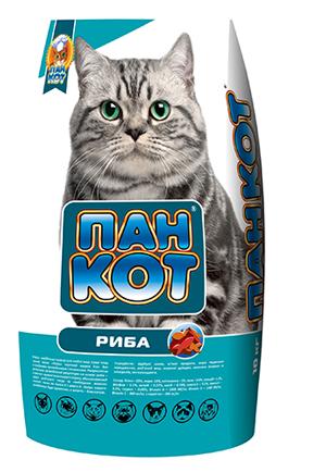 Пан-Кот РЫБА Сухой корм для взрослых кошек 10кг
