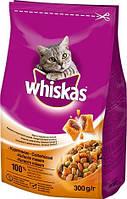 Whiskas Сухой корм для кошек вкусные подушечки с курицей 14кг