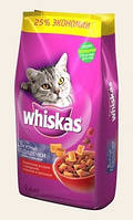 Whiskas Сухой корм для кошек вкусные подушечки с говядиной 14кг