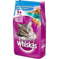 Whiskas сухой корм для стерилизованных кошек и кастрированных котов, профилактика МКБ 14кг