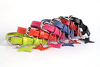 CoLLar Glamour - кожаный ошейник для собак (длина 19-25 см, диаметр - 9 мм) (3201)