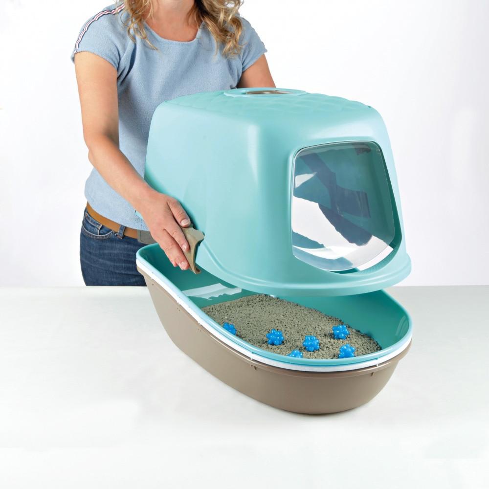 Trixie TX-40163 туалет Berto для кота  с фильтром и дополнительным ситом (39 × 42 × 59 см )