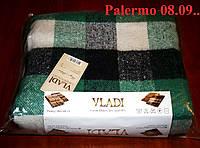 Плед  полуторный 140х200, тм. VLADI, Палермо «Palermo» 08.09 (бел-салат-син)