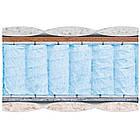 Матрас ортопедический на блоке Pocket Spring жесткий Зима-Лето Топаз Велам 80x190 см, фото 2