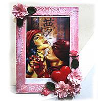 открытка-фоторамка. оригинальное дополнение к подарку на 8 марта день рождения  или свадьбу