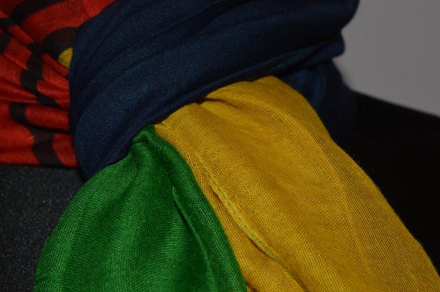 Шарф Соня желто-зеленый 3
