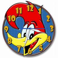 Детские фигурные настенные часы Вуди Вуд Пекер 30*30 см, часы для детской
