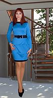 Трикотажный набор жакет + прямая юбка на резинке.