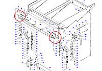 Кронштейн нижнего решета D28480081 Massey Ferguson