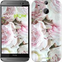 "Чехол на HTC One M8 Пионы v2 ""2706c-30"""