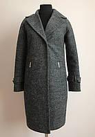 Меланжевое женское пальто