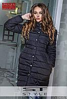 Стильное женское пальто на кнопках