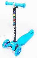 Самокат детский Scooter Maxi Burton Светящиеся колеса Металлический каркас 4 колеса