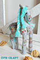 Мягая игрушка лошадка Rainbow pony handmade