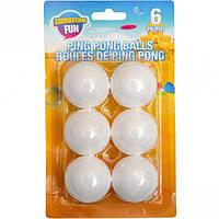 Мячи для настольного тенниса, 6 штук (арт.МНТ6)