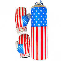 Боксерский набор «USA»  маленький (арт.ДТ-BX-12-02)