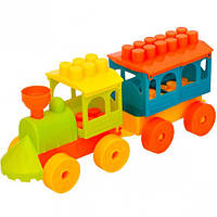 Конструктор паровозик «Малюк 1» , 18 эле… (арт.5147)