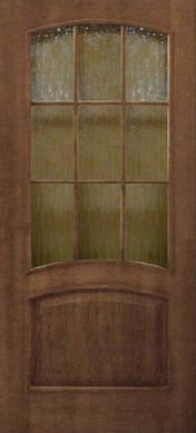 Двери Капри стекло кора бронза шпон натуральный