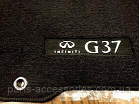 Infiniti G37 седан 2008-13 коврики в салон велюровые черные Новые Оригинальные