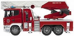 Игрушка Bruder Пожарная машина Scania с выдвижной лестницей и помпой 1:16  (03590)