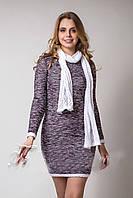Модное женское вязанное платье