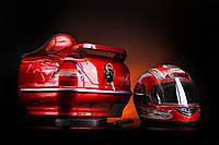 Кофра Мерседес с шлемом красная