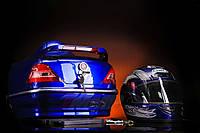 Кофра Мерседес с шлемом синяя