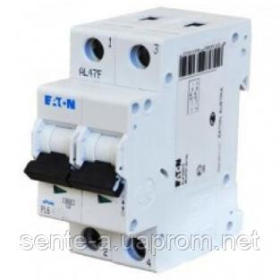 Автоматический выключатель 25A 6кА 2 полюса тип C PL6-C25/2 Eaton (Moeller)