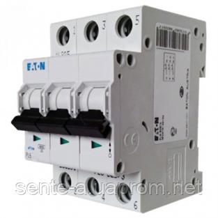 Автоматичний вимикач 50A 6кА 3 полюса тип C PL6-C50/3 Eaton (Moeller)