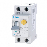 Дифавтомат 25A 30мА 6кА 2 полюса уставка C тип AС PFL6-25/1N/C/003 Eaton (Moeller)