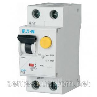 Дифавтомат 32A 30мА 6кА 2 полюса уставка B тип AC PFL6-32/1N/B/003 Eaton (Moeller)
