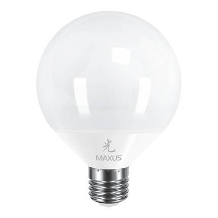 Лампа MAXUS G95 12W 4100K 220V E27 AP, фото 2