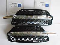 Mercedes S W221 2009-13 противотуманные фары ходовые огни диоды в бампер комплект Новый Оригинал