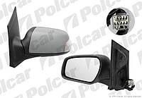 Зеркало правое эл+обогр+лампа порога (под покрас) Ford Focus 04-10