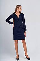 Интересное платье с декольте Луара синее