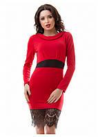 Женское платье красное р.42,44,46,48
