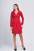 Интересное платье с декольте Луара красное