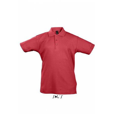 Детская рубашка поло красная SOL'S SUMMER II KIDS, размеры от 4 до 12 лет, плотность 170 г/м2