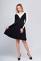 Черное платье миди Тереза