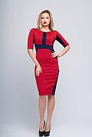Модное платье Маргарэт синий+красный
